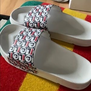 Nearly new fila x Pierre Cardin pool slide sandals
